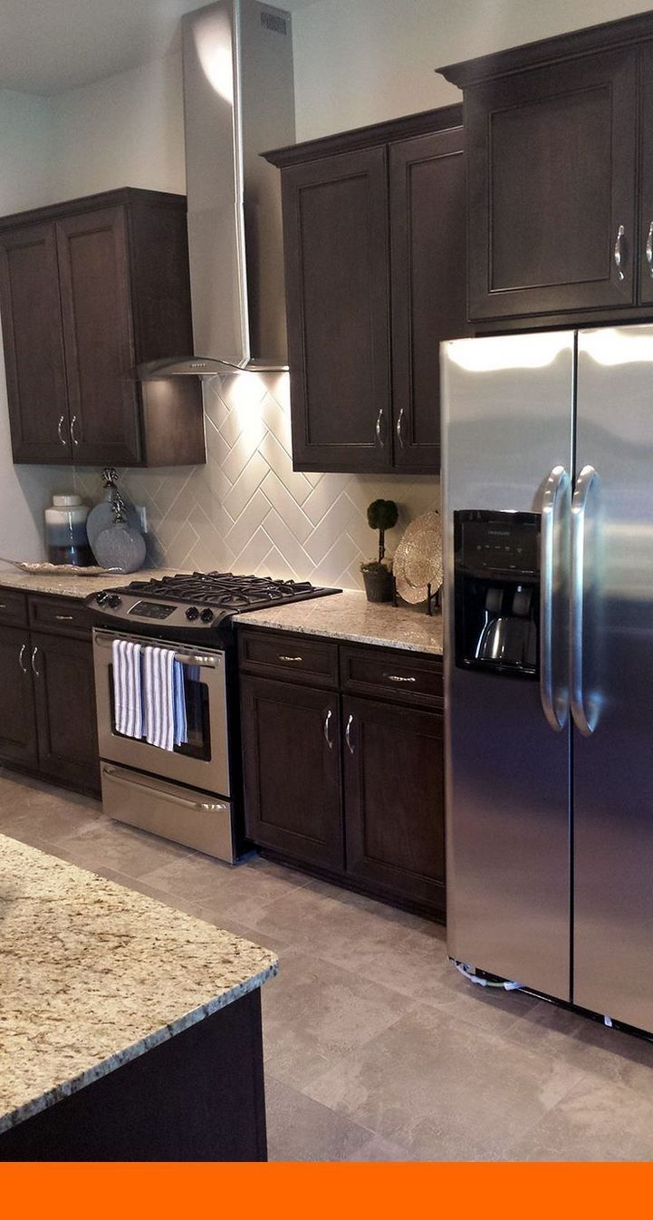 Kitchen Cabinets Painted Do It Yourself And Replacement Of The Door Furnit In 2020 Backsplash With Dark Cabinets Dark Brown Kitchen Cabinets Trendy Kitchen Backsplash