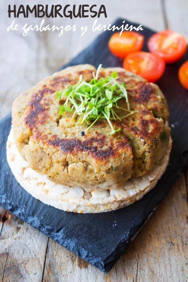 KOOKING: Hamburguesa de garbanzos y berenjena (vegetariana)...