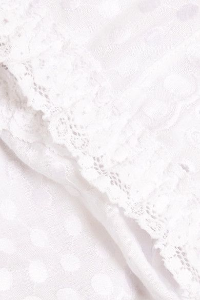 Hanky Panky - Eyelet Stretch Lace-trimmed Broderie Anglaise Soft-cup Bra - White - small