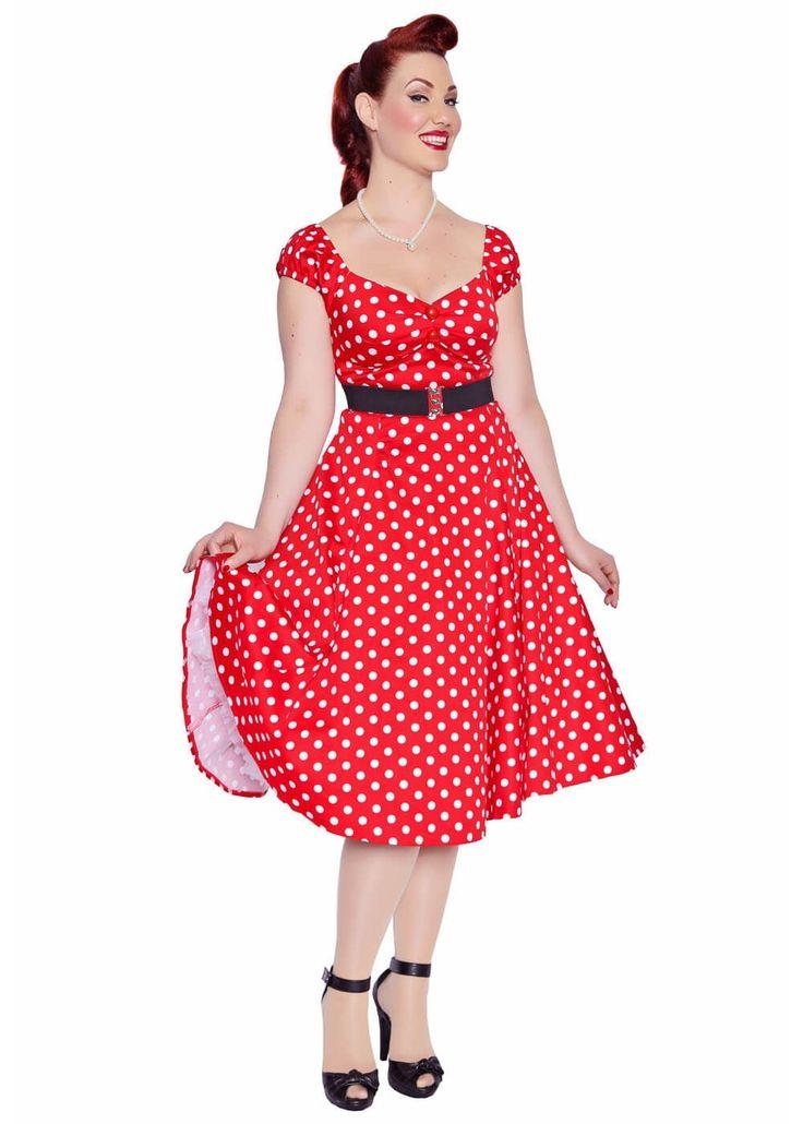 Collectif Dolores Polkadot Swing Jurk Rood. Vind dit zelf zeker een leuke voor de brides maids.. may I have your votes please??
