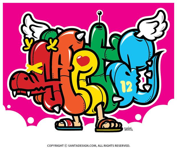 #Graffiti #SANTA / 2012