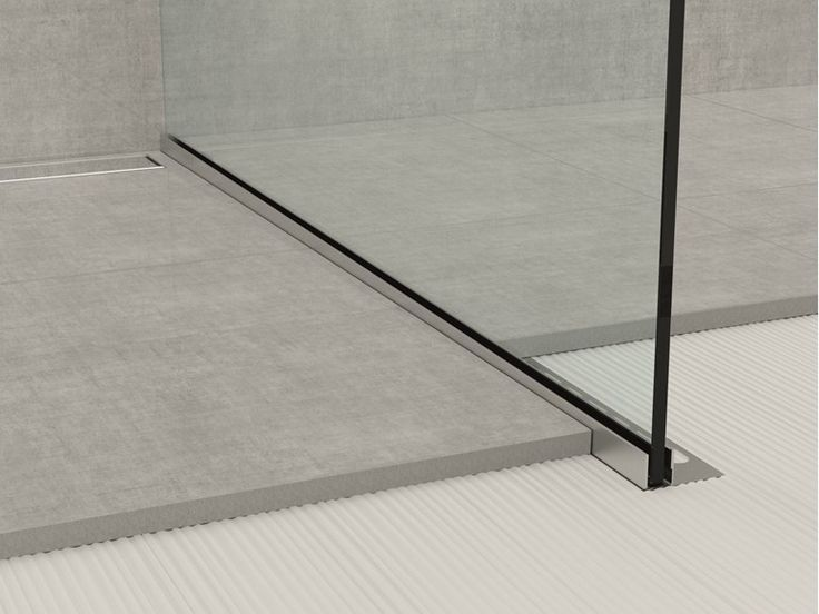 Stainless steel edge profile for floors GLASS PROFILE GPS1 Glass profile Collection by PROFILPAS