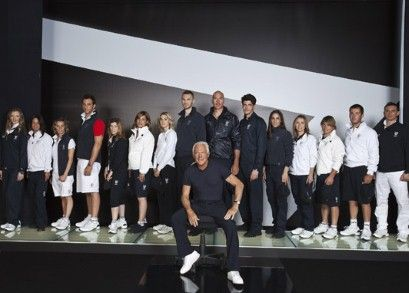 Giorgio Armani unveils the Italian Olympic Games 2012 kit