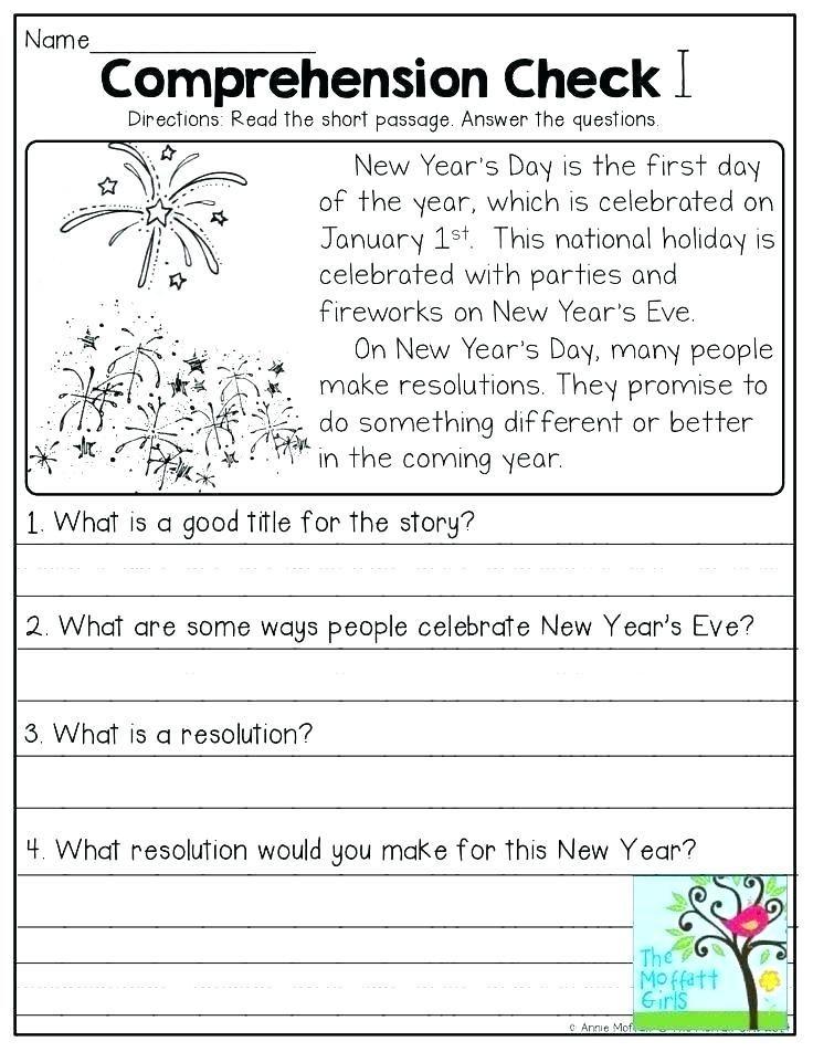 27 English Comprehension Worksheets for Grade 3 Pdf in