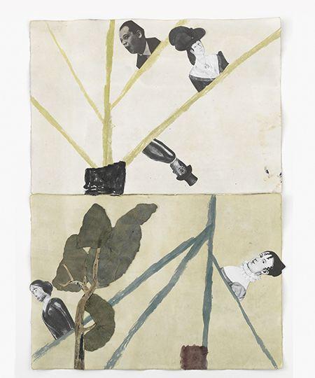 Jockum Nordström, Inability, 2014, watercolour, graphite, collage on paper, 64×45 cm. Courtesy: David Zwirner, New York/London