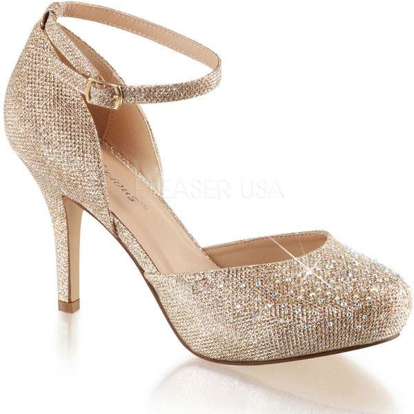 1000  ideas about Gold Heel Shoes on Pinterest | Beautiful heels ...
