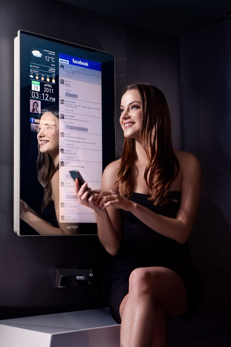 Cybertecture® Mirror - a reflective mirror/digital display and wi-fi connectivity - as seen in Hong Kong