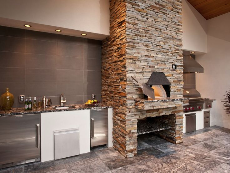 Latest In Gourmet Kitchen Design: Wood Burning Pizza Ovens Part 75