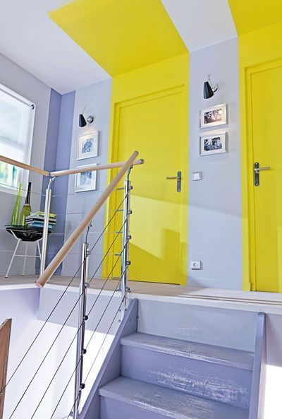Illustration très originale de Color Zoning !  Ne négligez plus vos entrées et couloirs - CôtéMaison.fr