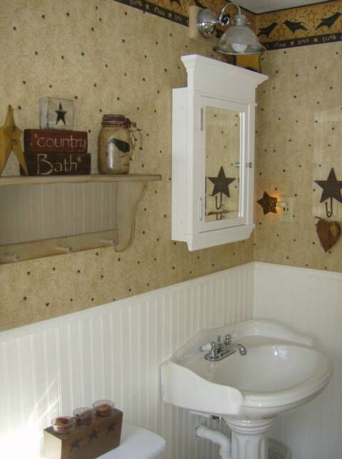 175 best images about colonial primitive decor on for Colonial bathroom ideas
