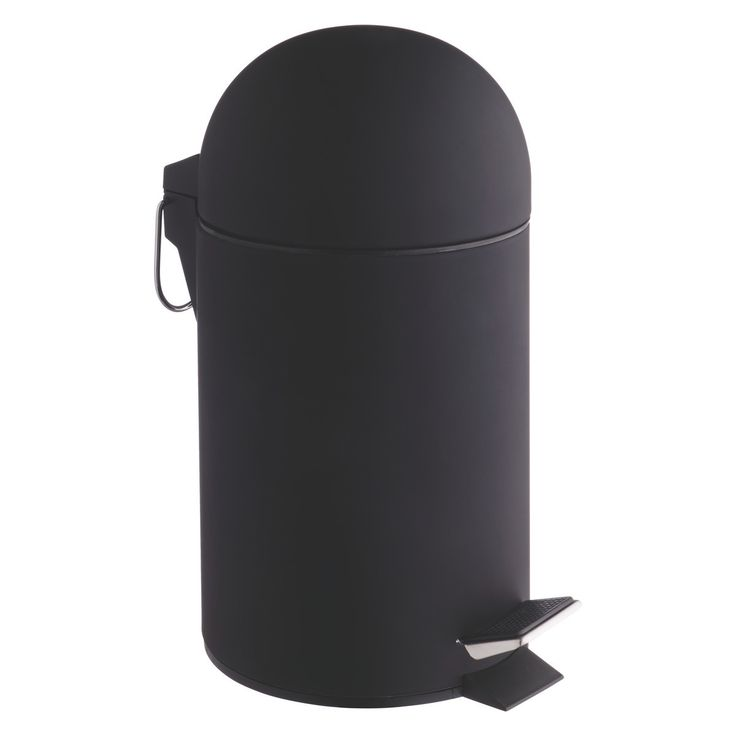 LIMA Black soft-touch bathroom bin | Buy now at Habitat UK