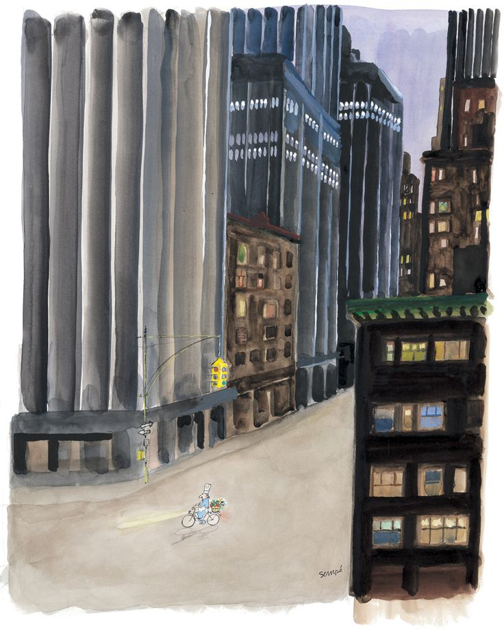 Cover Illustration for The New Yorker magazine - July 9, 2007 - ,  Jean-Jacques Sempé.    Via