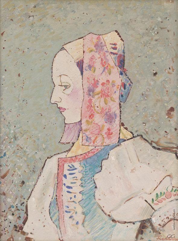 Ľudovít Fulla: Woman in a costume / Žena v kroji:1947 - 1950