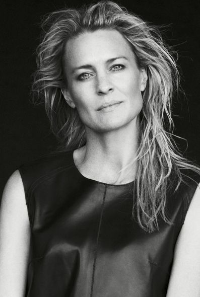 If I were to interview Robin Wright, I'd ask her to describe herself in three words. She is a complete knockout with layers of talent both in front of the camera and behind.