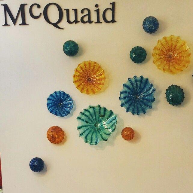 McQuaid blown glass (Sawdust Art Festival, Laguna Beach, Ca). I would love to do this on a wall in my home!