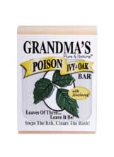 Poison Ivy & Oak Bar. Lye Soap base with a Jewelweed Infusion. Effective to prevent and as an antidote. Stops the itch and heals the rash in 3 to 4 days!