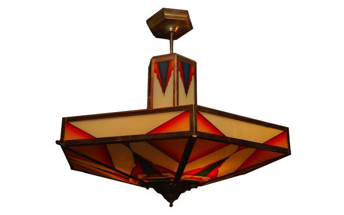 Art Deco Hanging Lamp from Denmark, c. 1925 - 20th Century Lighting - Jonnys Antiques LTD - Located in our showroom in Shakespeare, Ontario, Canada.