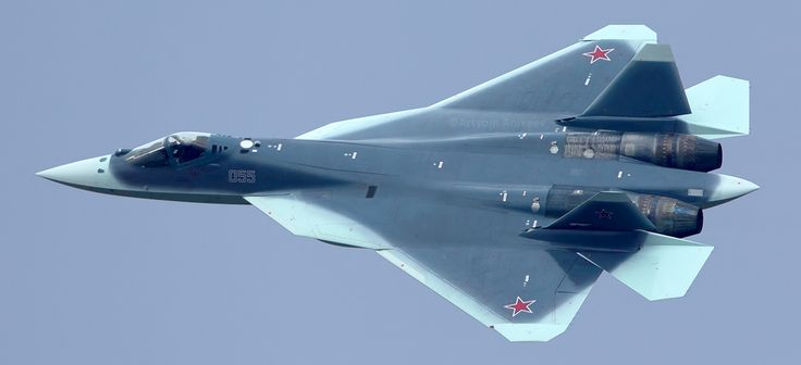 Stunning image of Russia's new stealth plane clearly shows new shark camouflage