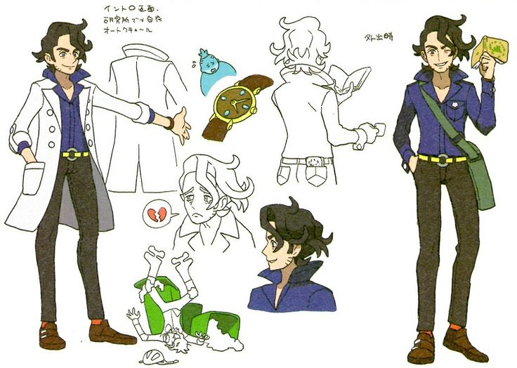 Professor Sycamore official character chart... kinda totally drawing some of these.