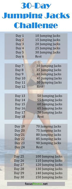 30 Day Jumping Jacks Challenge That Works!: