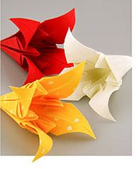 Fabric Origami lily