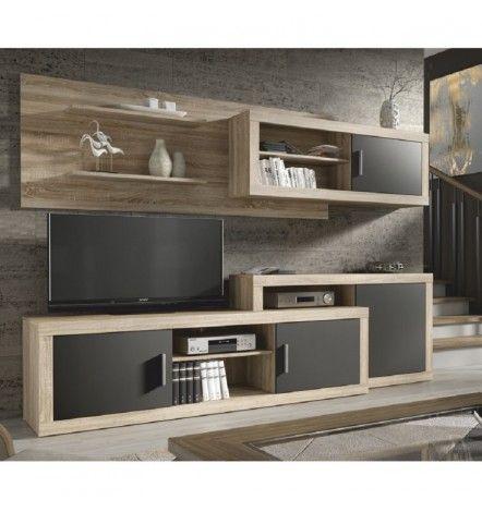 Ensemble Meuble Tv Opalo Noir Bedrooms Living Room Tv Unit Tv