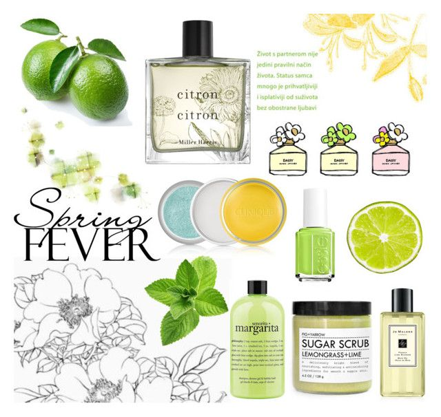 """""""Perfume for Spring: Lime"""" by tormadrienn ❤ liked on Polyvore featuring beauty, Marc Jacobs, Clinique, philosophy, Essie, Jo Malone, Miller Harris, Spring, Flowers and spring2016"""