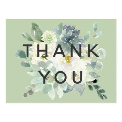 Sappige #Groenery #Bedankt #U #Postkaart # – #zomer #bruiloft #diy #huwelijk #aanpassen #pers …