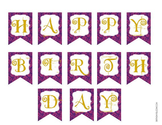 Ever After High Printable Happy Birthday Party Banner