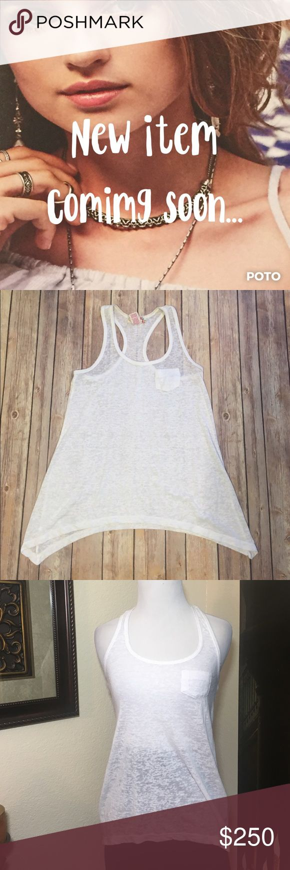 """🆕OP Burnout Racerback Tank Gently worn, OP racerback burnout tank. Size extra small. Shark bite hem with small pocket in the front loose fit and super light fabric. Approx. measurements bust 15"""", waist 15"""", length from strap to hem 25.5"""". *Note, first photo is for styling purposes only. Not exact item. Please use the offer button for all offers and bundle for a bigger discount. Thanks 💋 238-1115 OP Tops Tank Tops"""