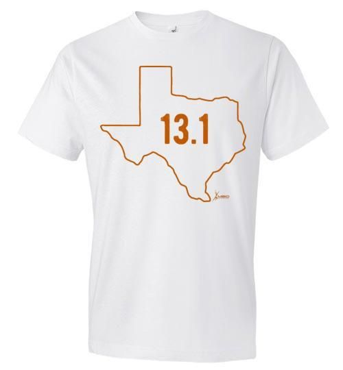 Texas Outline Half-Marathon T-Shirt