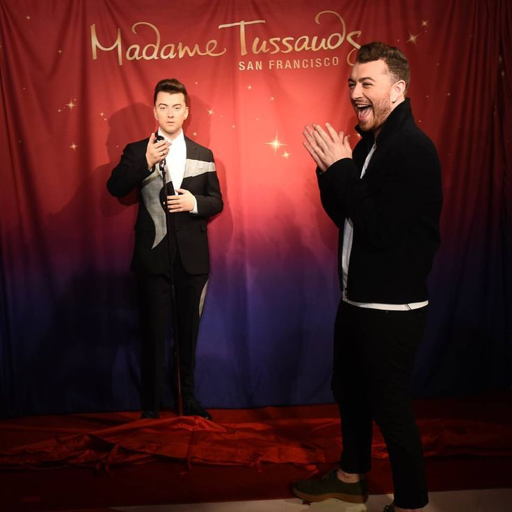 Sam Smith's reaction to his wax statue!❤️
