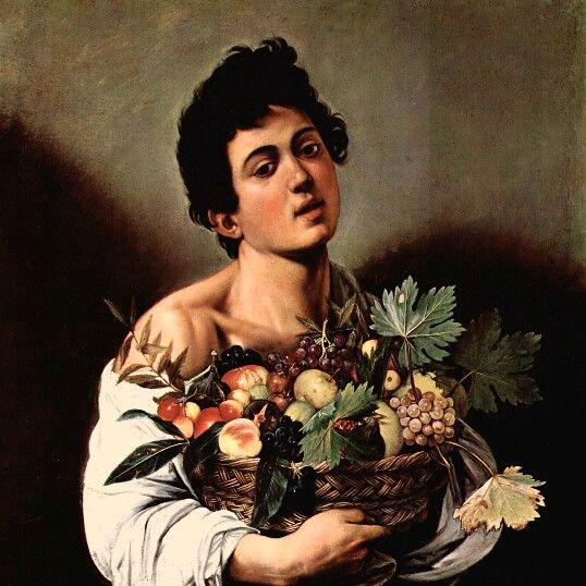 Fanciullo con canestro di frutta di Caravaggio, 1593-94, conservato alla Galleria Borghese di Roma