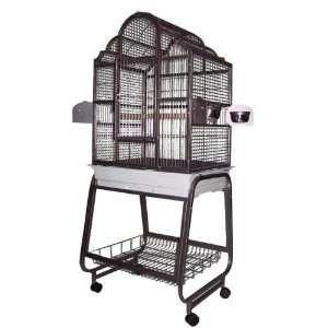 Elegant Victorian Top Bird Cage   Black Pet Supplies