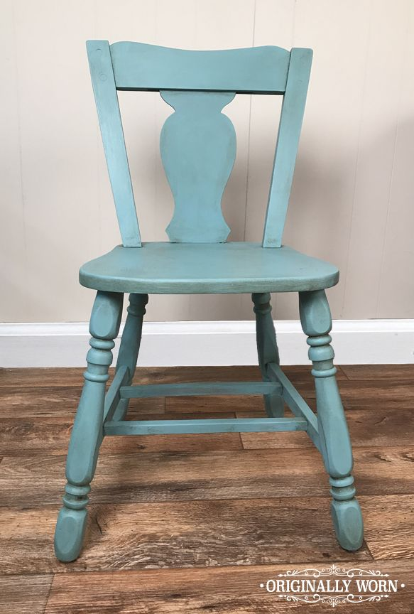 Painted in Chalk Paint® by Annie Sloan inProvence and Clear and Dark waxed. By Originally Worn