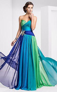 vaina / columna cariño palabra de longitud vestido de noche ... – EUR € 204.18