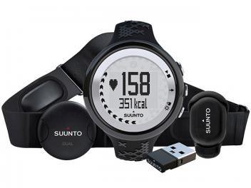 Relógio Monitor Cardíaco M5 Black Pack Suunto - Resistente à água Alarme Cronômetro Cronógrafo