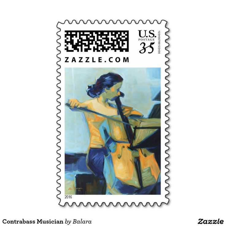 Contrabass Musician Postage