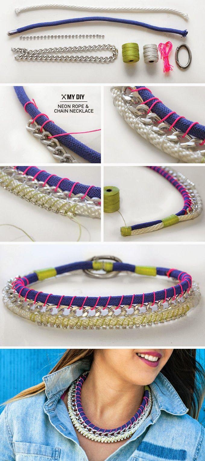 Un ar de cuerdas, hilo y una cadena son los principales protagonistas de este genial DIY (hazlo tu mismo)...