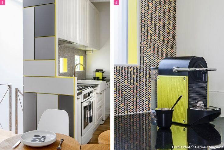 r novation et optimisation d 39 un petit appartement duplex cuisine kitchen pinterest. Black Bedroom Furniture Sets. Home Design Ideas