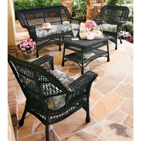 Wicker Furniture   Bing Images OUTDOOR MODERN BLACK WICKER FURNITURE  Archzine.org/