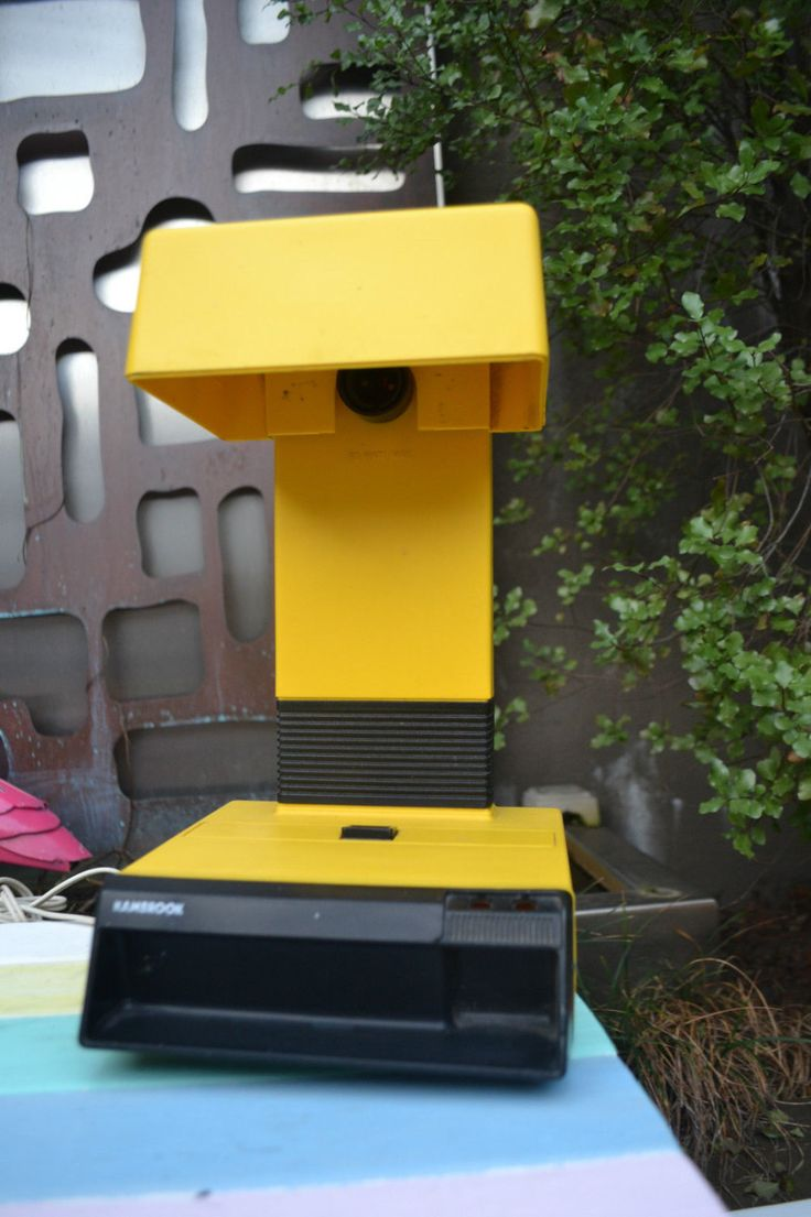 Retro Vintage lamp Kambrook yellow plastic fantastic by retrovintageoddities on Etsy