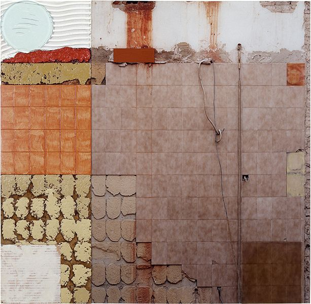 Clay Ketter  Brighten the Corners, 2009, 96 x 96 cm, mixed media