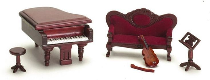 Dollhouse Miniature 1:24 Scale Music Room Set by Town Square Miniatures | eBay