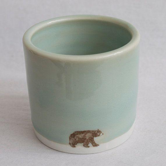 Celadon Small Bear, Big Sky Cup
