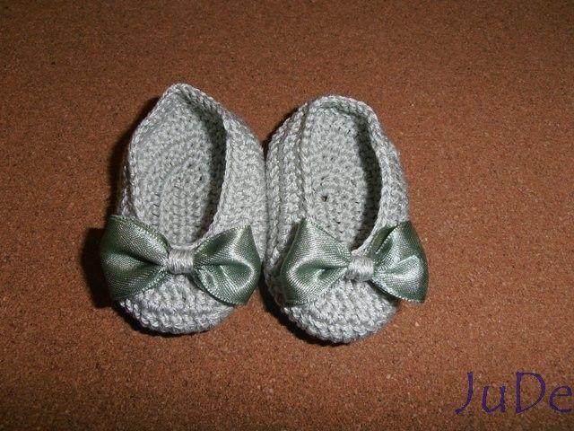 crochet baby ballerina shoes