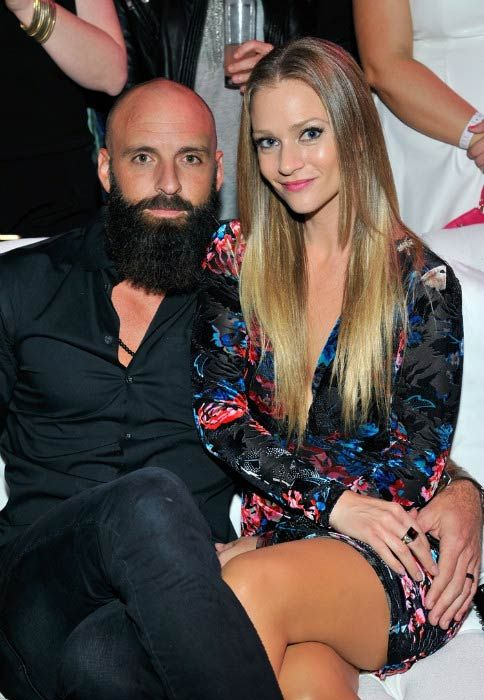 A. J. Cook and Nathan Andersen at the 10th anniversary Pink Party in Santa Monica in October 2014...