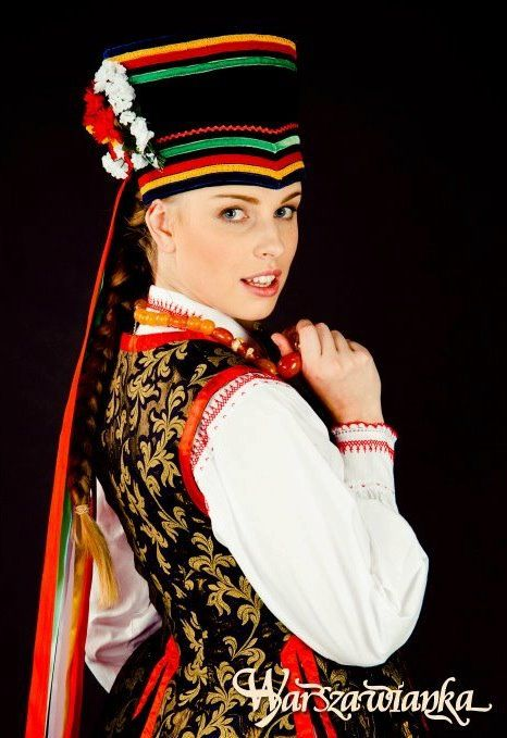 Folk costume from Kurpie Zielone, Poland