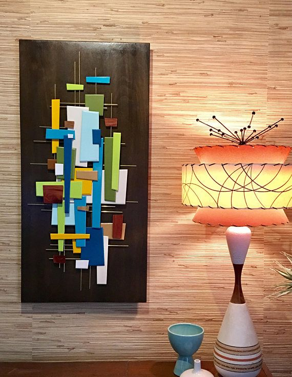Mid Century Modern Abstract Wall Art Sculpture Painting Retro Etsy Modern Abstract Wall Art Modern Art Abstract Abstract Wall Art