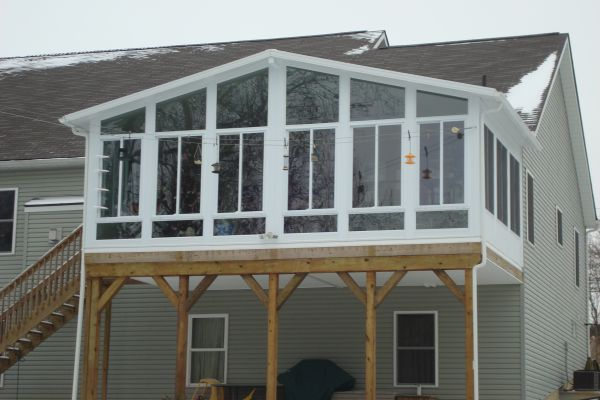 78 best images about covered 2nd floor deck sunroom on for How to build a 2nd story floor